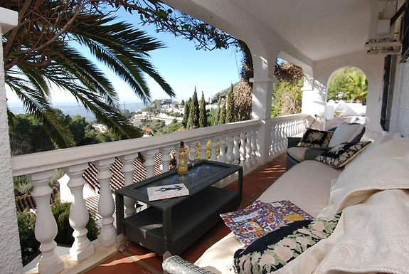 A quiet place to relax & take in the views at Casa Adelante, Mijas