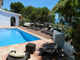 Relax by the pool at Casa Adelante holiday villa