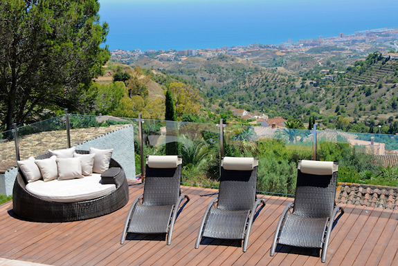 Stunning views at Casa Adelante, Mijas holiday villa