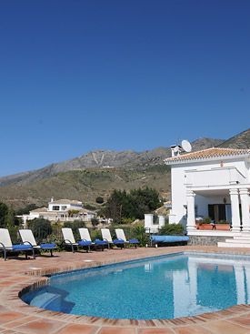 Relax by the pool at Alhabero holiday villa, Mijas, Spain