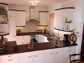New, modern kitchen at Alta Mira holiday villa in Mijas, Spain