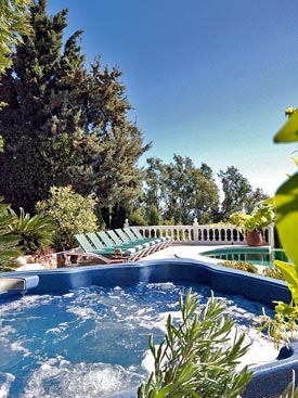 Relax in the Jacuzzi at Bancales holiday villa, Mijas Pueblo, Spain