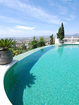 Fabulous views from Villa Bancales infinity pool