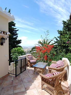 Bancales Guest House upper terrace