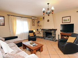 The lounge at Casa Christina holiday home, Mijas, Spain