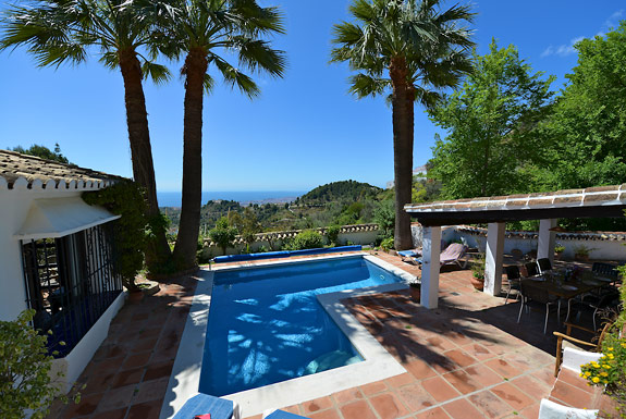 Views across the Andalucian countryside at Casa Clover, Mijas Pueblo