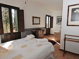 One of the two master bedrooms at Los Gemelos, Mijas