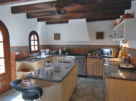 Modern, fully equipped kitchen at Huerta Vieja