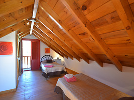 The Loft twin bedroom at Chalet Sophia