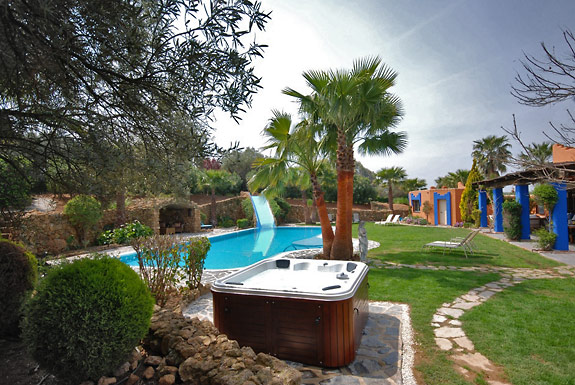 Relax in the Jacuzzi at Finca Maroc Holiday Villa