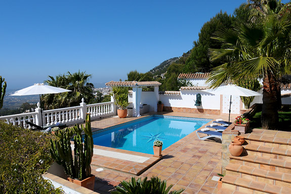 The pool at Casa la Noria holiday home for rent, Mijas Pueblo, Spain