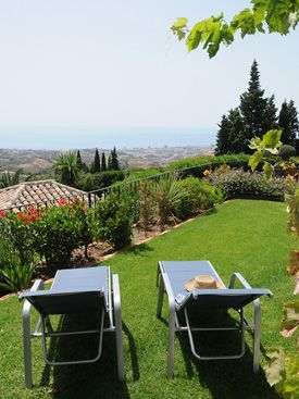 Views from the lower level garden at Los Patos, Mijas