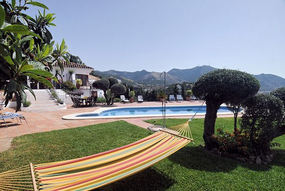 Relax in the hammock by the pool at Los Patos, Mijas Pueblo