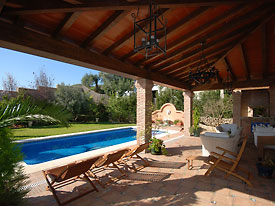 Chill by the pool at Casa las Rosas, Mijas Pueblo