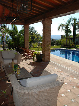 Pool at Casa Las Rosas in Mijas, Spain