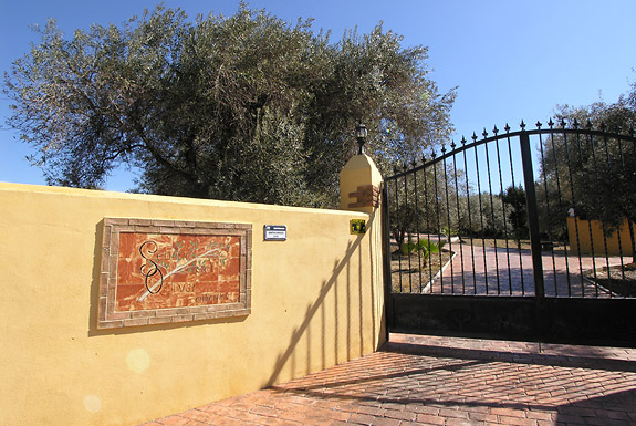 Gated entrance at Olivar