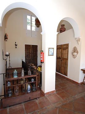 Entrance hallway at Casa Sierra, Mijas, Spain