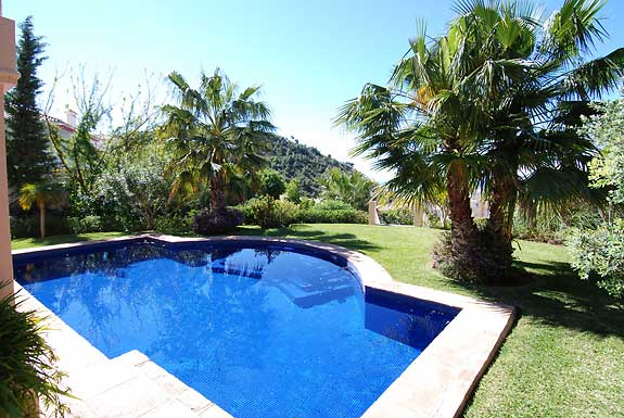 Pool & gardens at Casa Sierra, Mijas, Spain