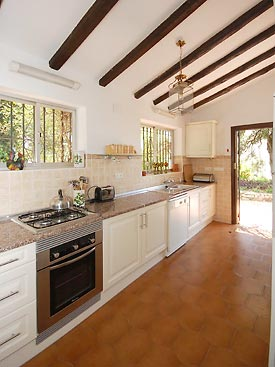 The modern kitchen at Tusculum holiday villa, Costa del Sol